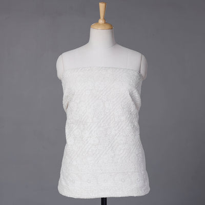 2pc Bhagalpuri Handloom Maheshwari Silk Block Printed Suit Material Set with Zari