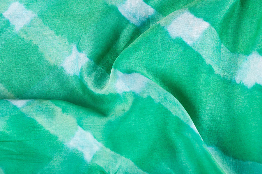 Original Leheria Tie-Dye Chanderi Silk Fabric by Badshah Miyan