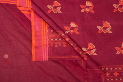 Bengal Handloom Tangail Soft Cotton Saree with Tassels