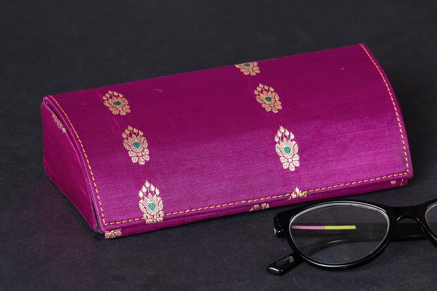 Brocade Silk Fabric Embellished Spectacle Case