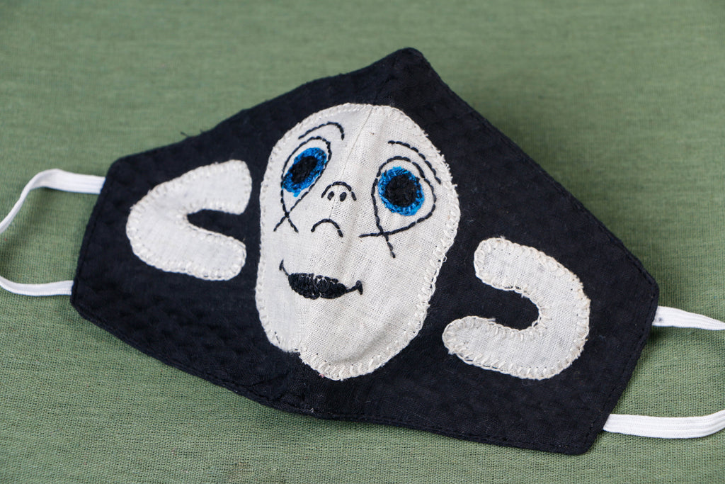 Hand Embroidered Applique Work Cotton 3 Layer Kids Face Cover