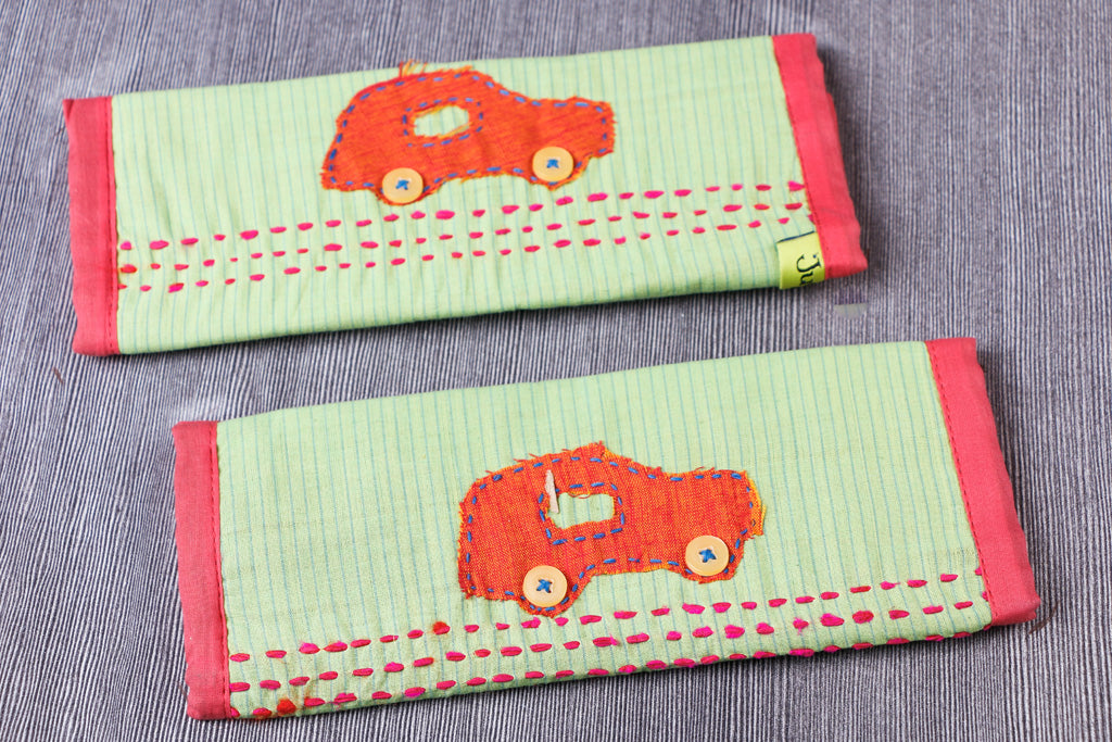 Handmade Fridge Handle / Seat Belt Cover by Jugaad (Set of 2)
