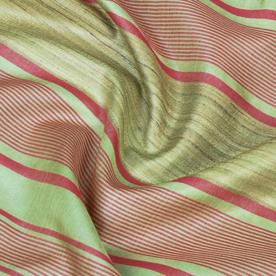 Traditional Vidarbha Pure Tussar Silk Handloom Saree with Woven Border