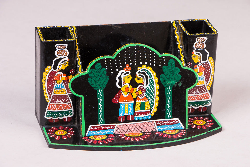 Tikuli Art Handpainted Wooden Kitchen Tool Holder