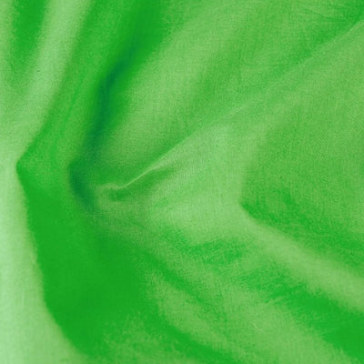 Light Green - Pre Washed Plain Dyed Pure Cotton Fabric (Width - 114 cm)