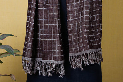 Handwoven Silk x Wool Stole by Kilmora