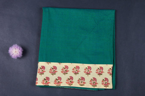 Rangoli Cotton Blouse Material with Border by Jalpari