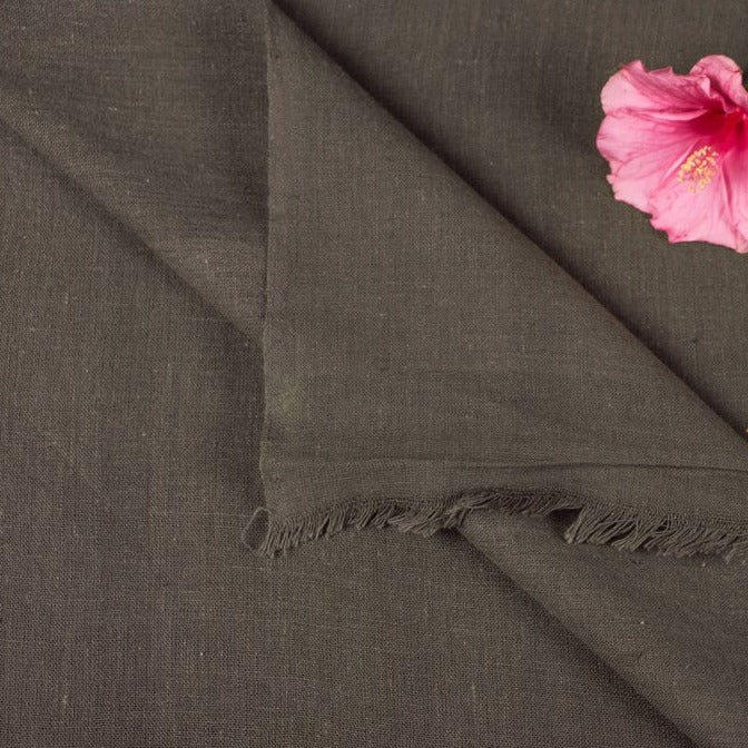 Organic Kala Cotton Pure Handloom Slate Grey Chaumukh Fabric