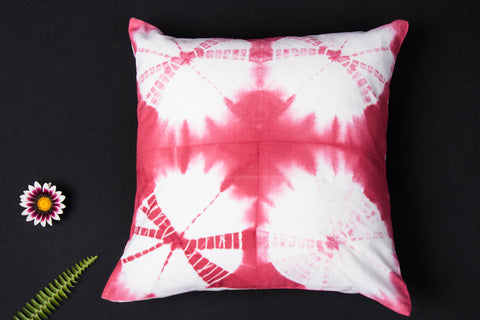 Shibori Tie-Dye Cotton Cushion Cover (16in x 16in)
