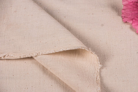 Organic Kala Cotton Pure Handloom Plain Cream Fabric