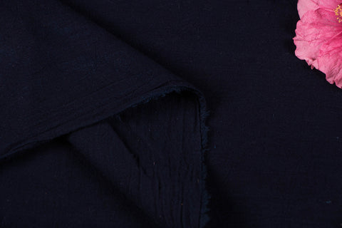 Organic Kala Cotton Pure Handloom Plain Indigo Fabric