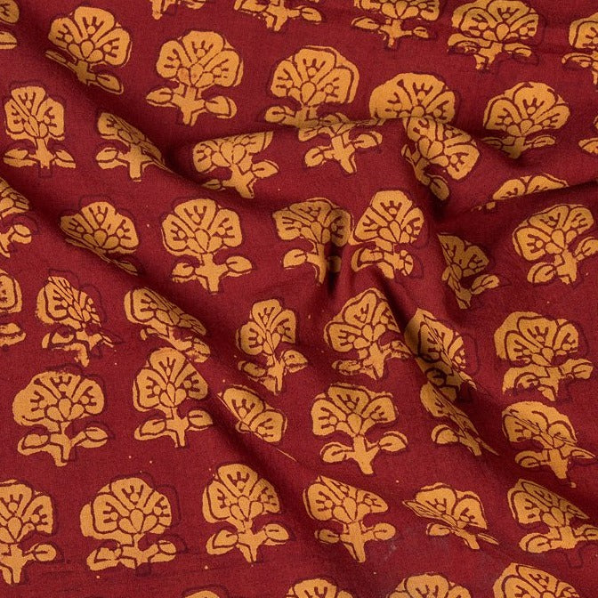 Pipad Hand Block Printed Pure Cotton Fabric