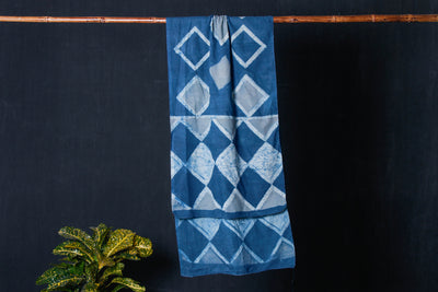 Akola Hand Block Print Natural Dyed Cotton Stole
