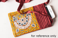 Kutchhi Hand Embroidered Sling Mobile Pouch
