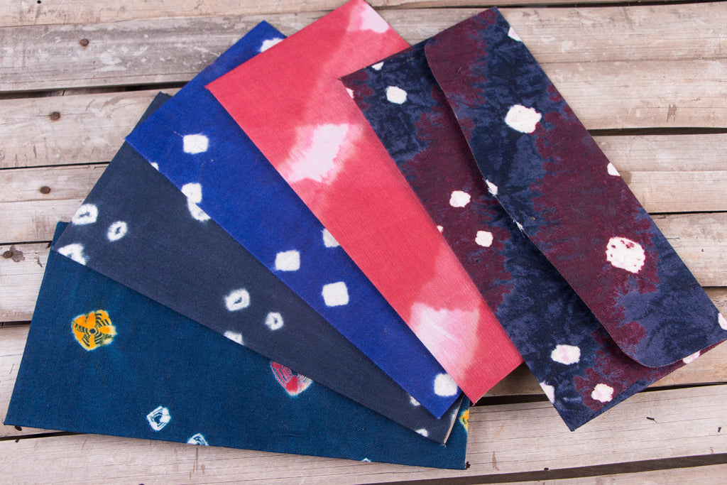 Handmade Tie-Dye Fabric Envelope (Set of 5)