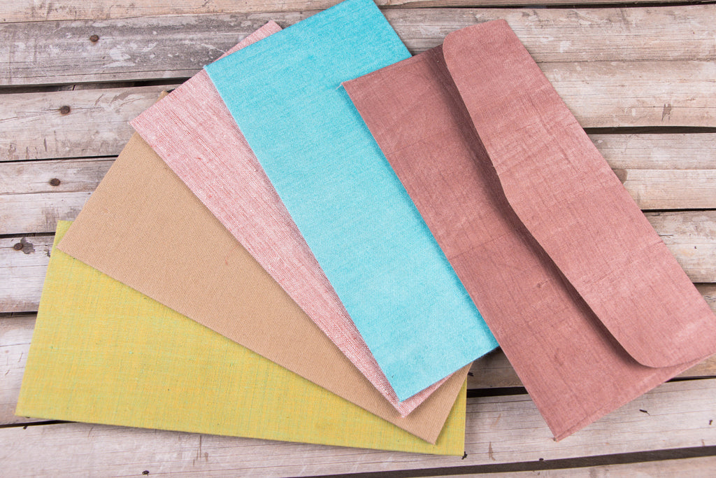 Handmade Plain Fabric Envelope (Set of 5)