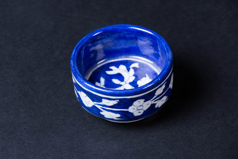 Original Blue Pottery Ceramic Bowl (Size - 3 inches)