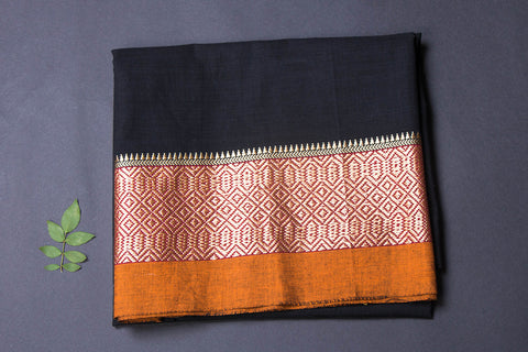 Dharwad Handloom Cotton Precut Fabric with Woven Border - 1.5 meter