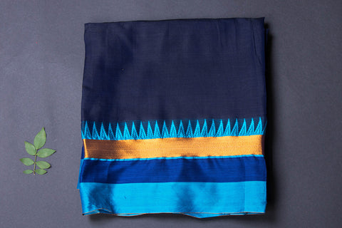 Dharwad Handloom Cotton Precut Fabric with Woven Border - 1.8 meter