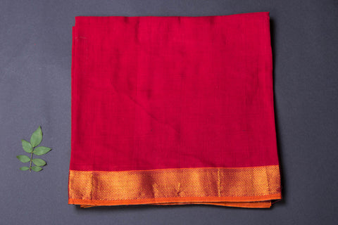 Dharwad Handloom Cotton Precut Fabric with Woven Border - 1.25 meter