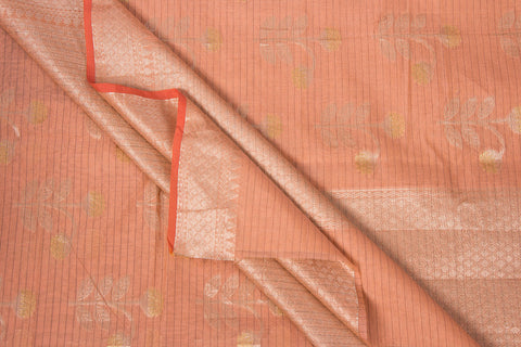 Traditional Handloom Pure Banarasi Silk Cotton Zari Buti Saree