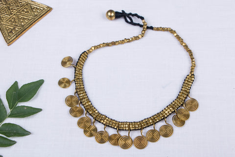 Tribal Odisha Dokra Threadwork Necklace
