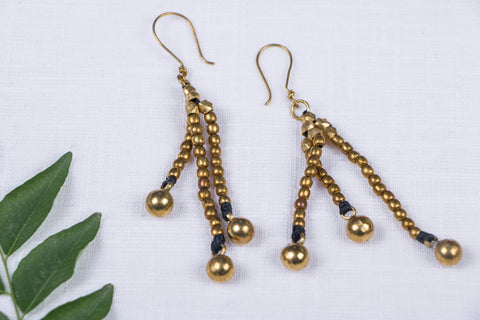 Tribal Odisha Dokra Threadwork Earrings