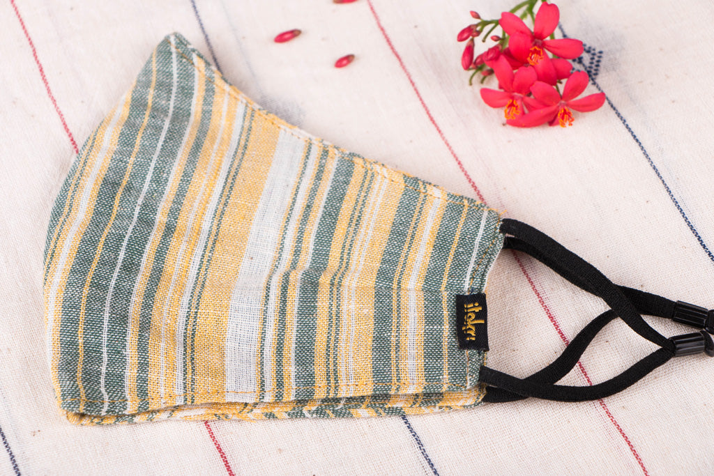Organic Kala Cotton Pure Handloom Fabric 3 Layer Snug Fit Face Cover