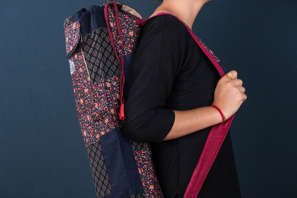 Patchwork Yoga Mat Bag by Jugaad