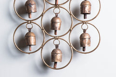 Kutch Copper Coated 7 Bell Round Jhoomar