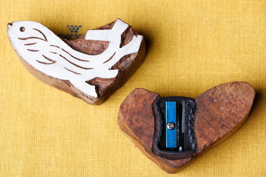 Handcarved Sheesham Wood Block Sharpener