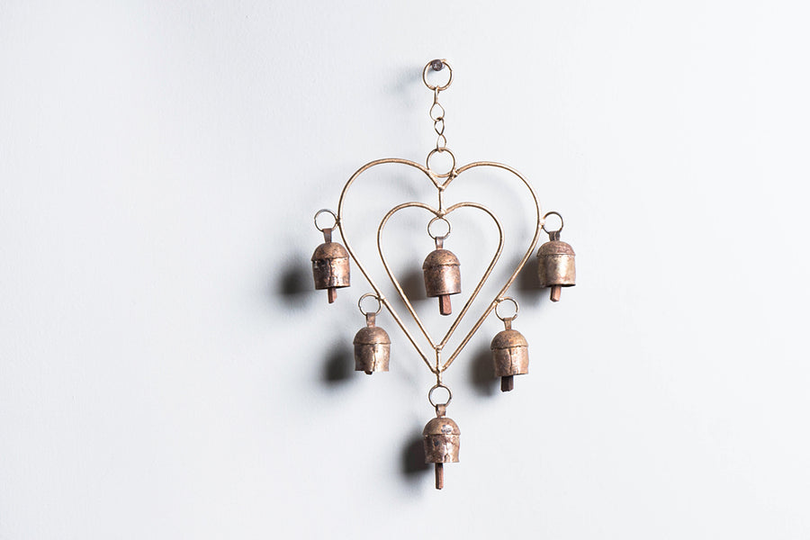 Kutch Copper Coated 6 Bell Heart