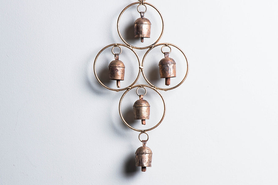 Kutch Copper Coated Bell 5 Round Ring Chimes