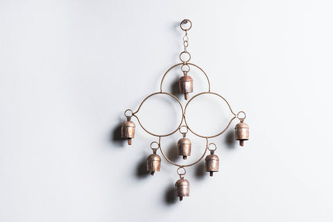 Kutch Copper Coated 7 Bell Hanging