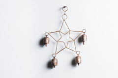 Kutch Copper Coated 4 Bell Double Star