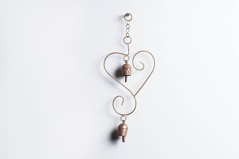 Kutch Copper Coated 2 Bell Heart