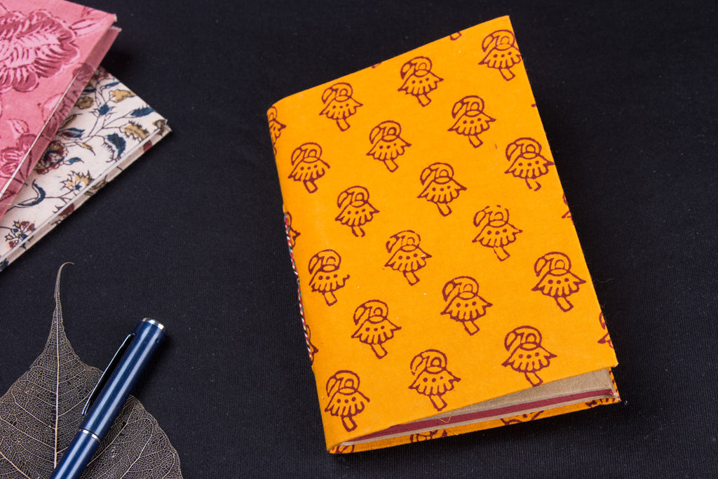 Bagh Fabric Cover Handmade Paper Notebook (18 x 13 cm)