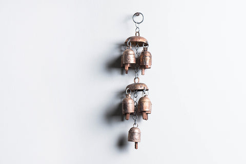 Kutch Copper Coated Bell 9 Bell Jhoomar