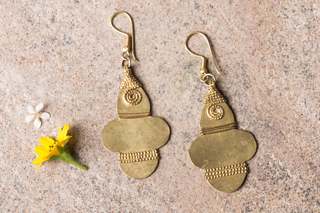 Tribal Odisha Dokra Earrings