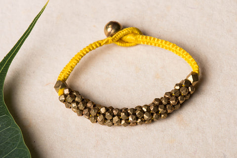Tribal Odisha Dokra Handmade Threadwork Bracelet