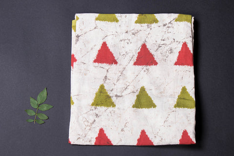 Pre Washed Cotton Block Printed Precut Fabric - 1.1 meter