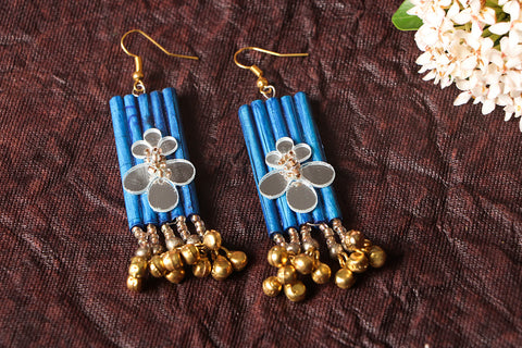 Paperjewelz Long Ghungroo Earrings by Vrinda
