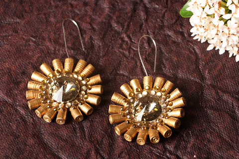 Paperjewelz Bling Flower Earrings by Vrinda