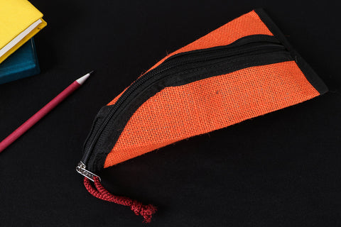 Handcrafted Multipurpose Jute Pencil Pouch