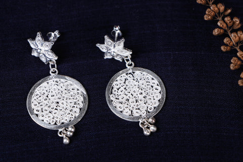 Kalinga Handcrafted Filigree Sterling Silver Earrings