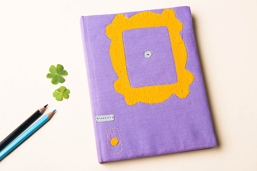 Handmade Applique Work Notebook (8in x 6in)