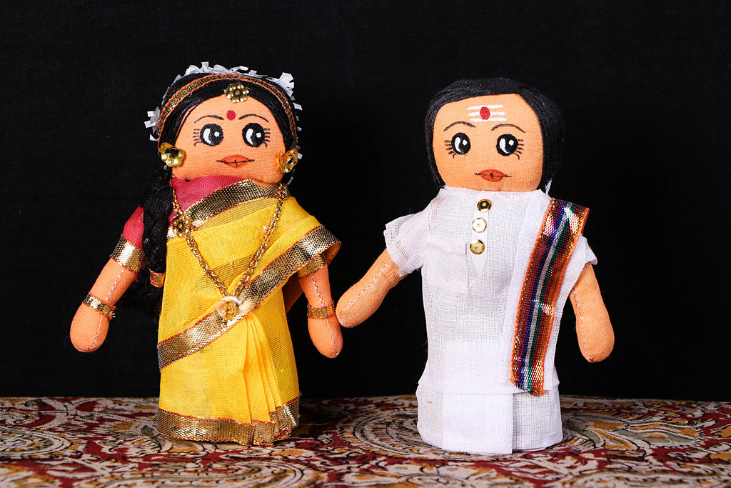 Traditional Handmade South Indian Couple Dolls