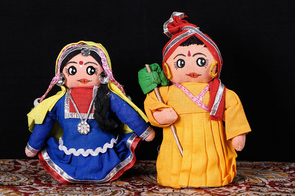 Traditional Handmade Rajasthani Couple Dolls