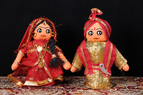 Traditional Handmade Marwadi Couple Dolls