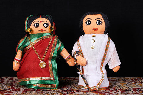 Traditional Handmade Bengali Couple Dolls